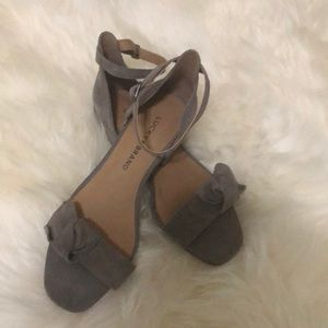 Lucky Brand Gray Suede Sandals size 6.5
